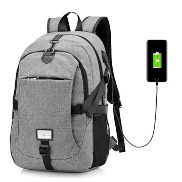 17 Inch Nylon Anti-theft Laptop Bag With USB Charger Casual Business Backpack For Men Women