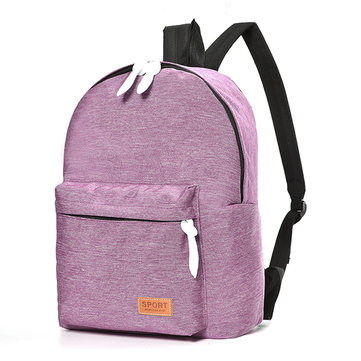 Women Men Canvas Backpack Casual Student Cute Schoolbag