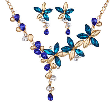Colorful Flower Jewelry Set