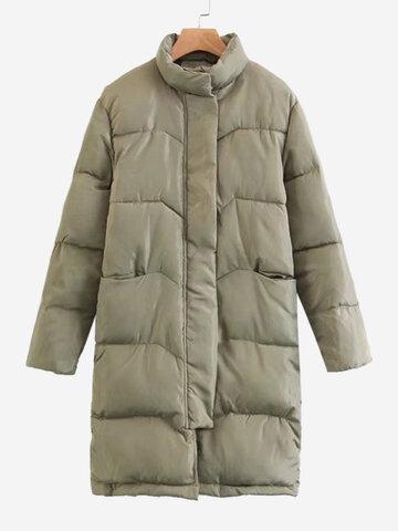 Краткие сплошные цветные женские толстые пальто