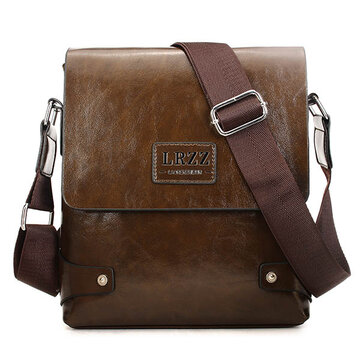 Men Business PU Leather Messenger Briefcase Shoulder Bag