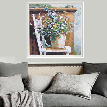 Retro Vase DIY Paint By Number Kits Canvas Digital Painting Living Room Home Decor