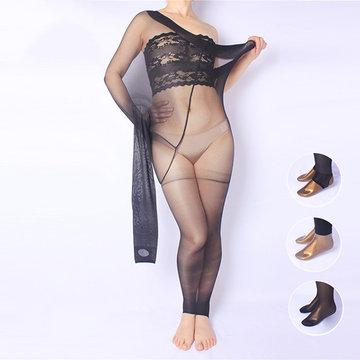 Плюс Размер Сексуальная Эластичная Предотвращающая Укусные Колготки Ультратонкие Дышащие Чулки для Женщин