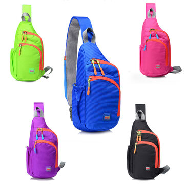 Waterproof Nylon Chest Bag Outdoor Sport Crossbody Bag