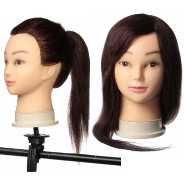 24 Inch Long Hair Salon Practice Models Hairdressing Training Head With Clamp