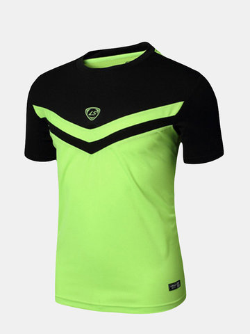 Buy Mens Outdoors Running T-Shirts Quick Dry Breathable Casual Sport Tops Tees