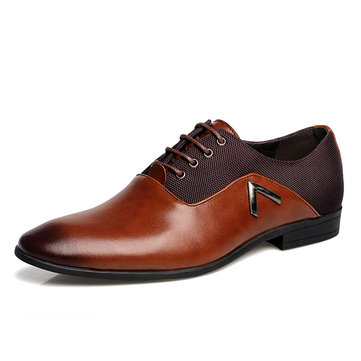 Large Size Color Blocking Business Formal Shoes