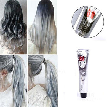 1Pc 100ML Light Gray Color Hair Dye Cream Natural Super Women Men