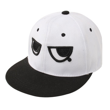 Men Women Adjustable Baseball Cap Black White Eyes Snapback Hip-hop Hat