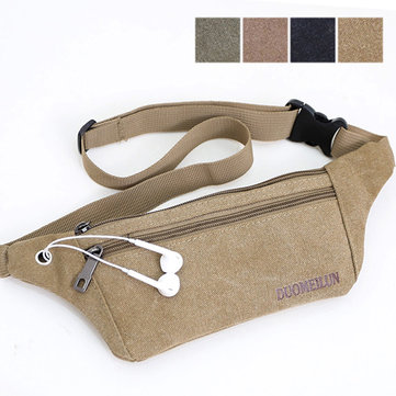 Close-fitting Waist Bag Slim Phone Bag Canvas Crossbody Bag Sports Bag For Men