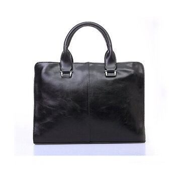 Men Casual  PU Leather Laptop Business Handbag Leisure Shoulder Bag