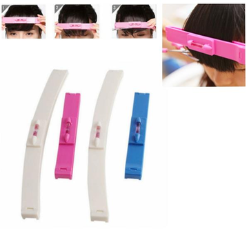 Hair Bang Ruler Cute Trimmer Fringe Cut Tool Clipper Comb Guide Pink Blue