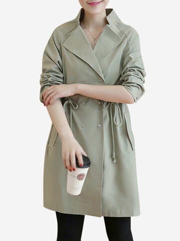Double Breasted Long Sleeve Coats