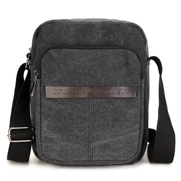 Men Casual Canvas Leisure Outdoor Sport Crossbody Bag Retro Shoulder Bag