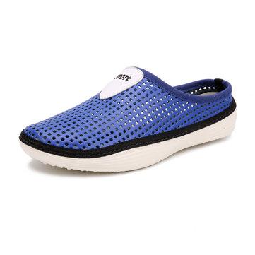 Мужчины выдолбляют дышащие Backless ботинки Slip On Light Beach Shoes