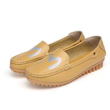 Comfortable Moccasins Slip On Loafers Round Toe Casual Shoes