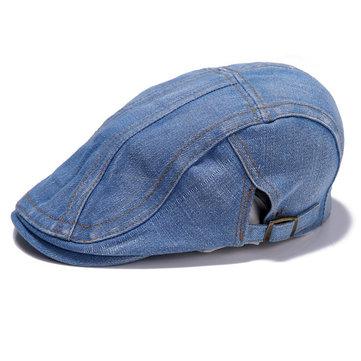Men Women Cowboy Hat Peaked Cap Beret Forward Flat Cap