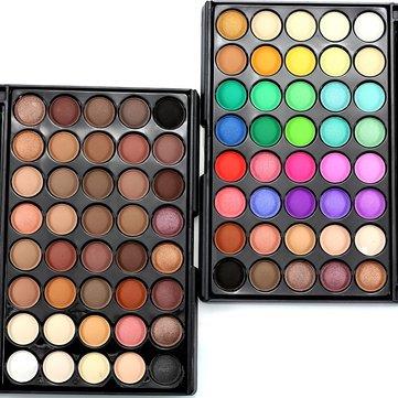 40 цветов Shining Eyeshadow Eyeshadow Shimmer Eye Shadow Palette Нейтральная Обнаженная Косметическая Портативная