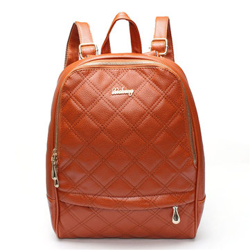 Women PU Backpack Travel Casual Shoulder School Bags