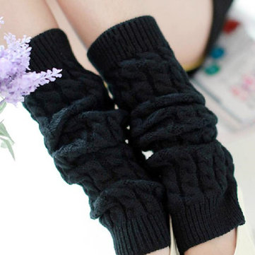 Thicken Winter Warm High Knee Leg Knit Crochet Socks