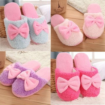 Sweet Anti Slip Bowknot Indoor Shoes