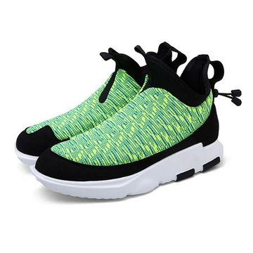Men's Fashion Knitting British Breathable Slip On Sport Running Shoes