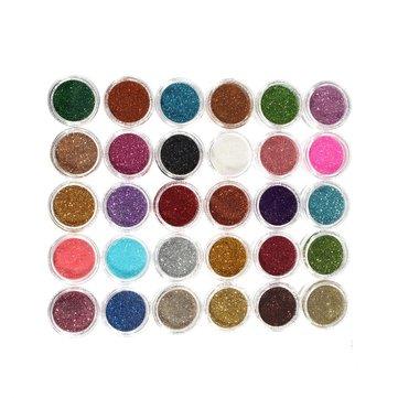 30 цветов один комплект макияжа блеск порошок тени для век пигмент тени для век косметический украшение ногтей
