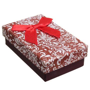 Подарочная коробка с цветочными лентами