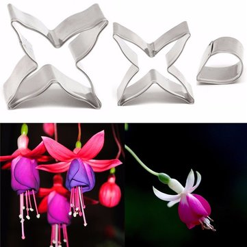 3PCS Flower Shape Chocolate Cookie Cutters Candy Biscuit Jelly Baking Tool Cake Mold