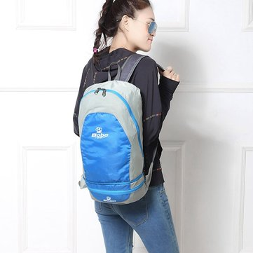 Casual Nylon Waterproof Backpack Foldable Crossbody Bag For Women