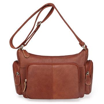 Неподдельная кожа повседневного урожая первого слоя кожи одно плечо сумка для женщин