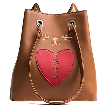 PU Cute Cat Handbag
