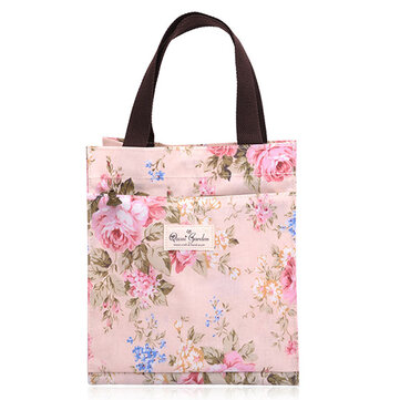 Floral Print Women Lunch Bags Outdoor Handy Handbags