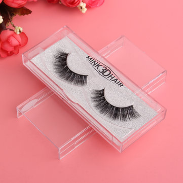 1 Pair 3D Handmade Black Thick Mink Eyelashes Natural False Eye Lashes  Beauty Makeup