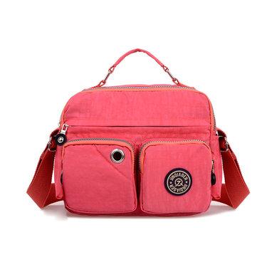 Women Nylon Multi-pocket Waterproof Totes Shoulder Bags Crossbody Bags