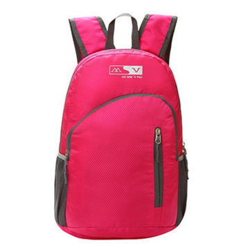 Women Men Folding Nylon Candy Color Waterproof Lightweight Backpack