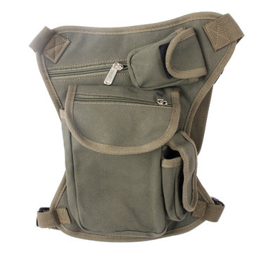 Men Canvas Waist Belt Drop Leg Bag Outdoors Thigh Fanny Pack