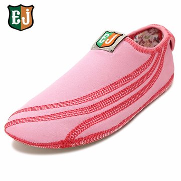 EJ Cotton Colorful Hook Loop Comfortable Yoga Ballet Dance Sport Casual Flat Home Shoes