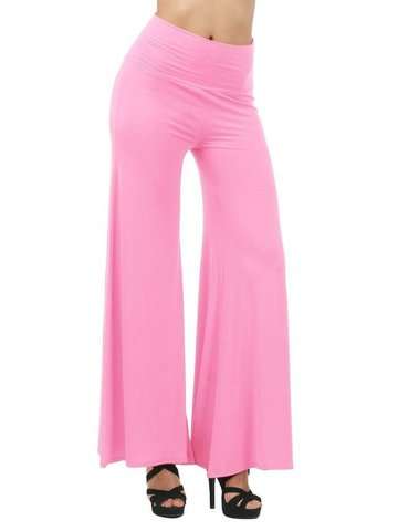 Women Loose Pleated Solid Yoga Pants