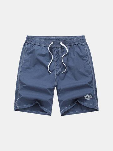 6 цветов Мужские летние Чистые цвета Плавающие шорты Случайные Loose Beach Shorts