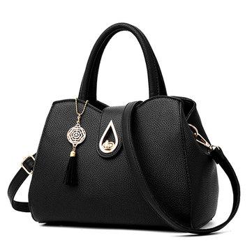 Women Lady PU Leather Crossbody Bag Elegant Shopping Shoulder Bag