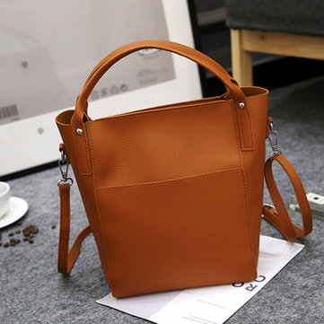 Women PU Leather Bucket Bag High-end Hobos Bag Handbag