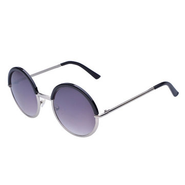 Men Women Retro Round Lens UV Protection Sunglasses Full Frame Eyewear