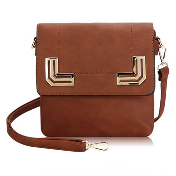 Women Messenger Bag Metal Decorate Shoulder Bag Crossbody Bags