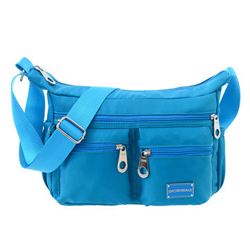 Ladies Crossbody Bag Oxford Nylon Long Strap Shoulder Bag Leisure Travel Bag