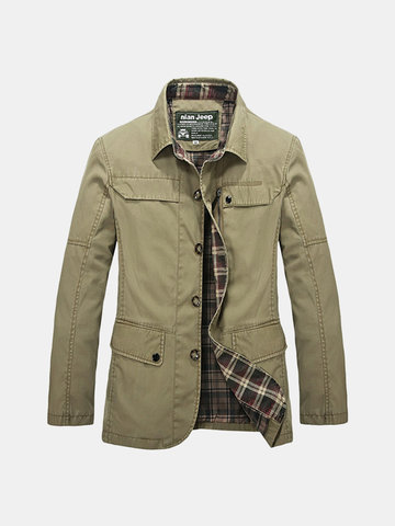 Multi-pocket Military Casual Cotton Coat