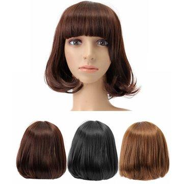 Короткие волнистые завитые парики Парики для волос Cosplay Синтетические парики Симпатичные высокотемпературные