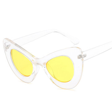 Women Summer Colorful Cat Frame Sunglasses Travel Casual Anti-UV Glasses