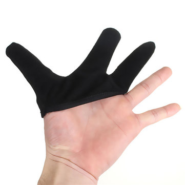 Heat Resistant Three Fingers Design Glove For Hair Straightening Curling Hairdressing