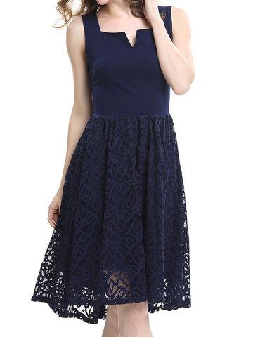 Элегантное платье из шифона V-образным вырезом для женщин